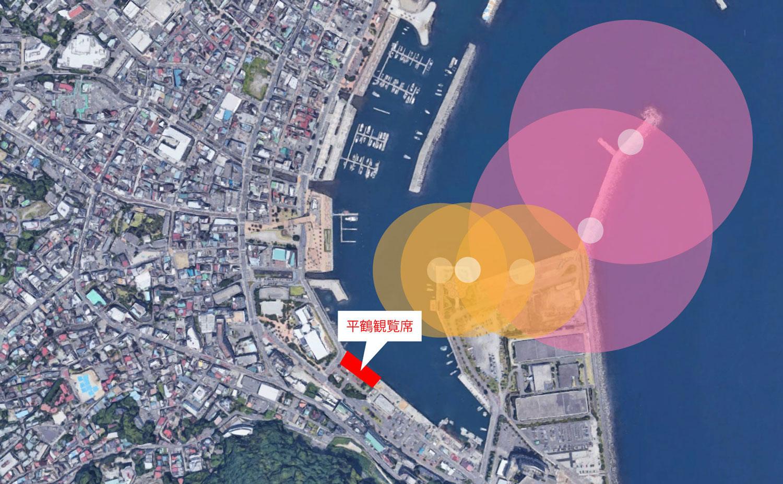 熱海温泉湯の宿平鶴 熱海海上花火大会の専用観覧席