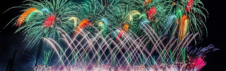 熱海温泉湯の宿平鶴 熱海海上花火大会