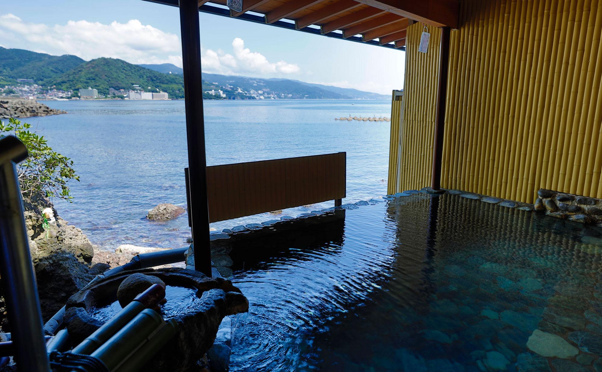 熱海温泉湯の宿平鶴 露天風呂(大浴場)
